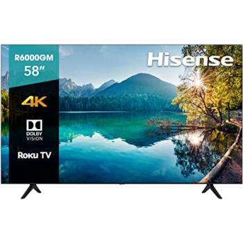 "TELEVISION HISENSE 58R6000GM 58"" SMART ROKU 4K 3840*2160 HDMI WIFI"