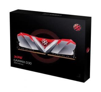 MEM DDR4 ADATA XPG GAMMIX D30 8GB 3200MHZ RED/SILV AX4U3200W8G16A-SR30