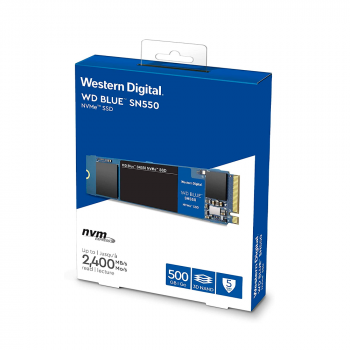 UNIDAD SSD M.2 WD SN550 500GB WDS500G2B0C BLUE PCIE NVME