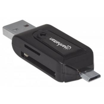 ADAPTADOR MANHATTAN OTG USB 2.0 A M - MICRO B M+LECTOR 24 EN 1 406215