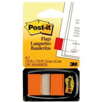 Banderitas 3M 680 Post It Naranja 12 Piezas c/50 Hojas c/u