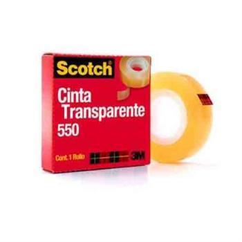 CINTA 3M 550 24X65 TRANSPARENTE ADHESIVA