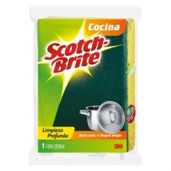3M Mi Fibra Esponja Scotch Brite Mediana Paq C/12