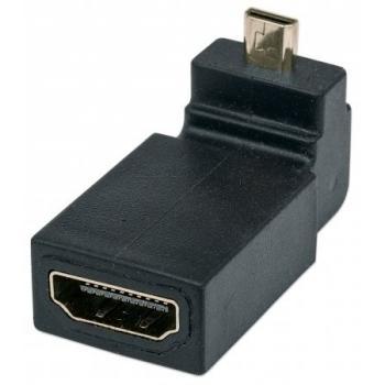 ADAPTADOR HDMI HEMBRA A MICRO HDMI MACHO ANGULO ARRIBA DE 90° 353441