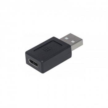 ADAPTADOR MANHATTAN USB TIPO C V2.0 AM-CH NEGRO 354653