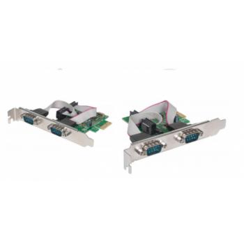 TARJETA SERIAL MANHATTAN PCI EXPRESS 2 PUERTOS 152082