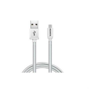CABLE ADATA TEJIDO USB-V8 100CM COLOR PLATA