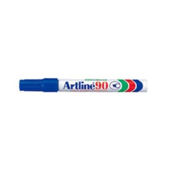 MARCADOR ARTLINE PERMANENTE ALUMINIO AZUL C/12