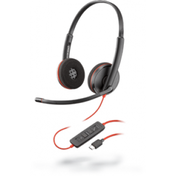 AUDIFONO/MIC DE DIADEMA PLANTRONICS BLACKWIRE C3220 ALAMB.BINAURAL USB