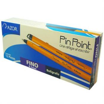 BOLIGRAFO PIN POINT P. FINO 0.7MM NEGRO CAJA C/12