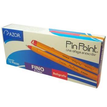 BOLIGRAFO PIN POINT P. FINO 0.7MM ROJO CAJA C/12