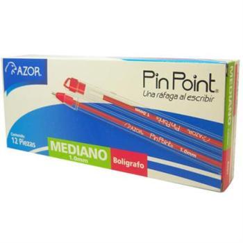 BOLIGRAFO PIN POINT P. MED 1.0MM ROJO CAJA C/12