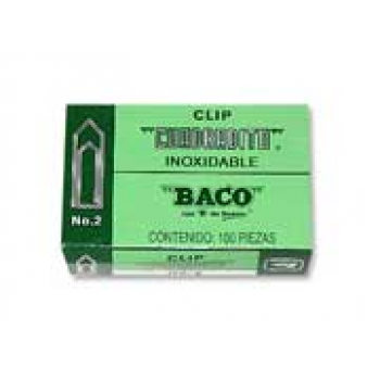 CLIP BACO CUADRADITO 2 C/10 CLIPS
