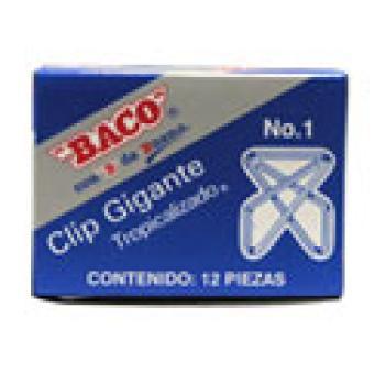 CLIP BACO GIGANTE 1 ZINCADO C/12