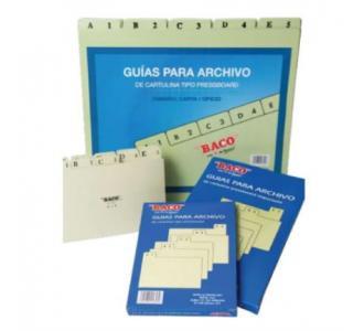 Guías Baco para Archivos Alfabéticas Oficio C/25 Pzas