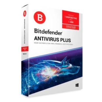 Licencia Antivirus Bitdefender Plus 1 Año 1 Usuario Caja