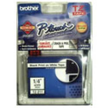 CINTA BROTHER TZ211 NEGRO/BLANCO 6MM PT 1400 9500C 1750