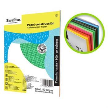 Block Papel Construcción Barrilito Mix Carta Colores Surtidos C/50 Hojas