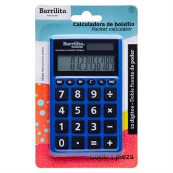 Calculadora Barrilito Bolsillo 12 Dígitos Doble Fuente Poder