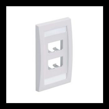 PLACA FRONTAL PANDUIT /4 MODULOS/MINI-COM/BLANCO/(CFPE4IWY)