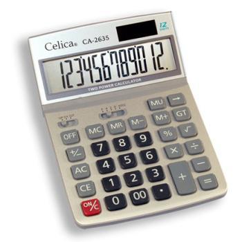 CALCULADORA CELICA CA-2635 ESCRITORIO 12 DIGITOS DUAL