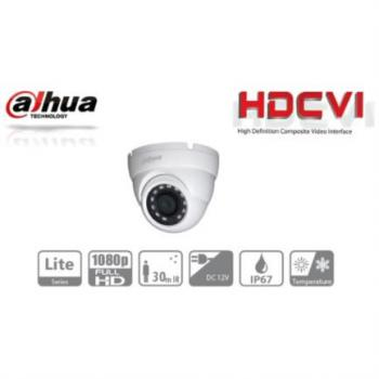 DAHUA CAMARA DOMO HDCVI 1080P/TVI/AHD/CVBS/ LENTE FIJO 2.8 MM/ IR 30M/ SMART IR/ IP67/ BLC/HLC/DWDR/AGC/ METALICA