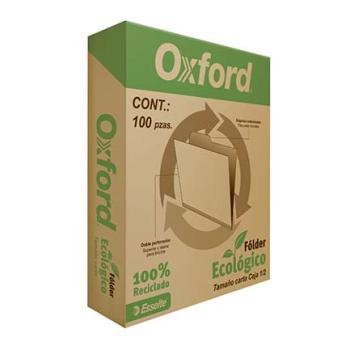 FOLDER OXFORD RECICLADO CARTA C/100 PZAS