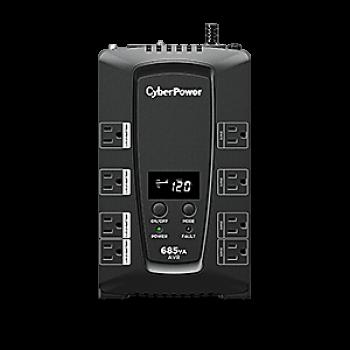 UPS/NO BREAK CYBERPOWER CP685AVRLCDa 685VA/390W LCD/AVR/ 8NEMA
