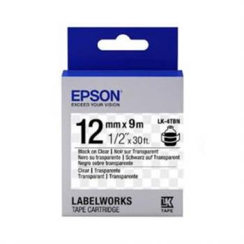 CINTA EPSON LABELWORKS NEGRO/TRANSPARENTE 12mm