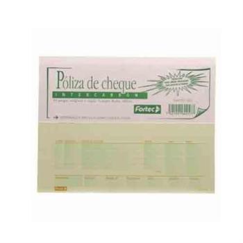 POLIZA DE CHEQUES INTERCARBON  ½ OFICIO 25 JGS