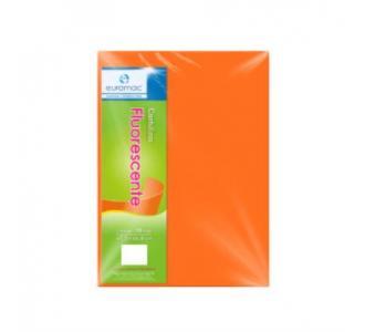 Cartulina Euromac Eurofluorescente 47.5x66cm Color Naranja Paquete C/100H