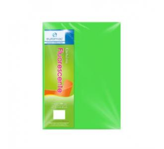 Cartulina Euromac Eurofluorescente 47.5x66cm Color Verde Paquete C/100H