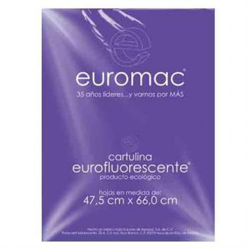CARTULINA EUROMAC FLUORESCENTE MORADO 47.5X66 C/10