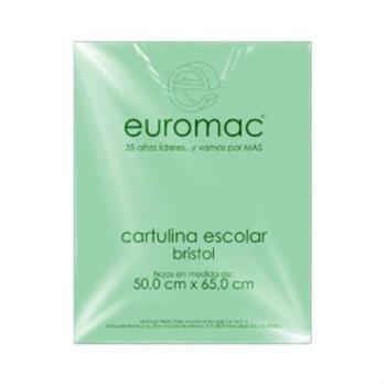 CARTULINA EUROMAC BRISTOL VERDE 50X65 PQT/100H