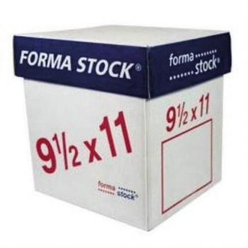 PAPEL FORMASTOCK BLANCO 9.5 X 11 2TANTO C/1500