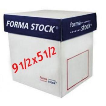 PAPEL FORMASTOCK BLANCO 9.5 X 5.5 3TANTO C/1000
