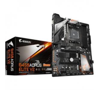 Tarjeta Madre Gigabyte AMD B450 AORUS ELITE V2 S AM4 Ryzen 5000 3ra Generación 4xDDR4 2933 128GB M.2 SATA-PCIe