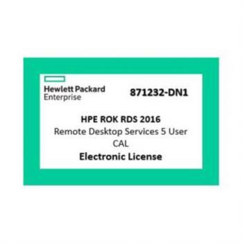 SERVIDOR HPE WINDOWS 2016 CAL (5 USUARIOS) RDS REMOTE DESKTO