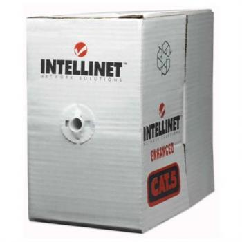 Bobina Cable Intellinet Cat 6 CCA 305m Sólida Color Gris