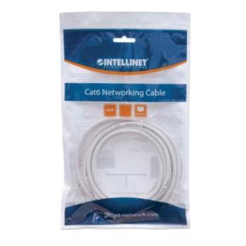 Cable Intellinet Red Cat6 UTP RJ45 M-M 0.5m Color Blanco