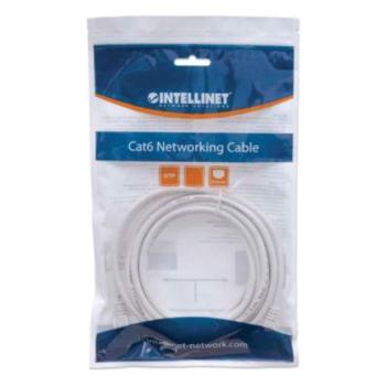 Cable Intellinet Red Cat6 UTP RJ45 M-M 1m Color Blanco