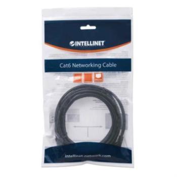 Cable Intellinet Red Cat6 UTP RJ45 M-M 0.5m Color Negro