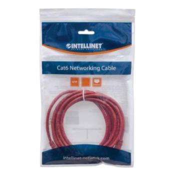 Cable Intellinet Red Cat6 UTP RJ45 M-M 1m Color Rojo