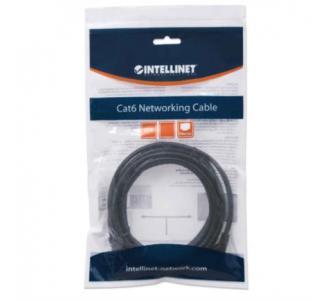 Cable Intellinet Red Cat6 UTP RJ45 M-M 7.5m Color Negro