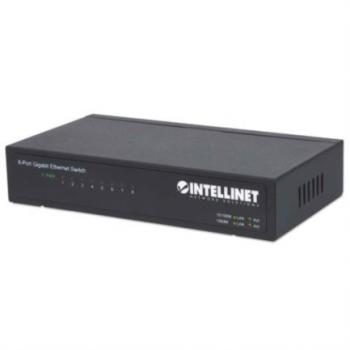 Switch Intellinet Escritorio Ethernet Gigabit 8 Puertos Color Negro