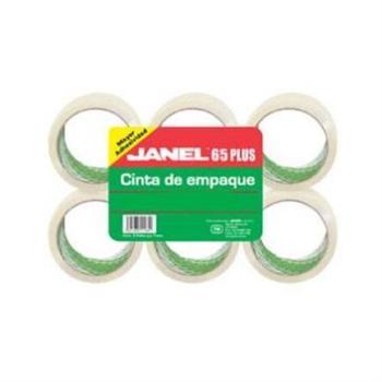 CINTA JANEL EMPAQUE TRANSP .048X50MTS PAQ C/6
