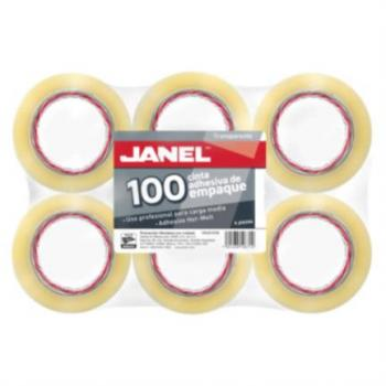 Cinta Janel 155 Empaque Transparente 48mmx50m Paquete C/6 Pzas
