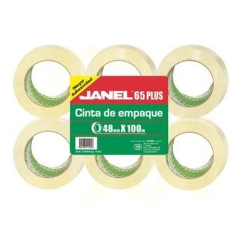 CINTA JANEL EMPAQUE TRANSP .048X100MTS PAQ C/6