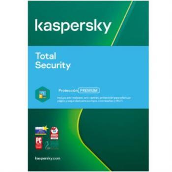 ANTIVIRUS KASPERSKY TOTAL SECURITY 5 LIC 1 AÑO