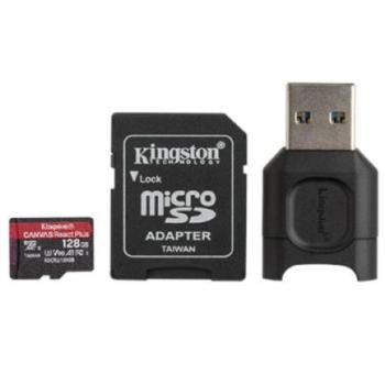 Memoria MicroSD Kingston Canvas React Plus 128 GB SDCR2 285R UHS-II Color Negro